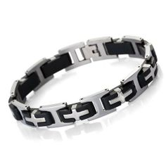 Justeel Jewelry Stainless Steel Bangle Bracelet Cuff Chain Men Silver Cross Black Rubber Justeel Jewelry. $7.99. Size HxWxL: x0.3x9.8inch; (x8x250mm). Shipping takes 2-3 weeks from China (USPS Tracking). Excellent Luster and Unimpeachable Rust and Corruption Resistance. 100% Nickel free