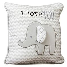 Create the nursery of your dreams with Wendy Bellissimo Mix & Match Bedding. Add a sweet touch of whimsy to your little one's nursery with this adorable Chevron Throw Elephant Pillow.