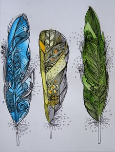 Dream Feathers Art Print..OMG I LOVE LOVE LOVE!  THIS!!!