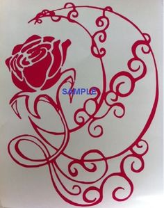 Rose & Moon Cross Stitch Chart now at www.crossstitchchartheaven.co.uk #crafts #sewing #xstitch #rose