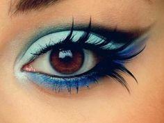 #blue #eyeshadow #eyelashes