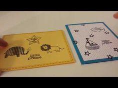 2 Baby Boy Cards using Hero Arts Precious Baby Boy stamp set - YouTube