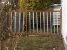 Homemade Dog Fence - brilliant! http://www.diynetwork.com/how-to/how-to-build-a-conduit-fence/index.html