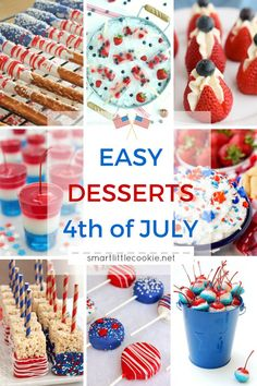 Easy Desserts for 4t
