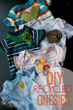The Pretty Life Anonymous: PLA DIY: Recycled Onesies!