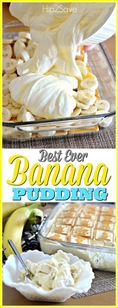 Best Ever Banana Pudding                                                                                                                                                      More Banana Pudding Recipes, Banana Pudding Trifle, No Bake Banana Pudding, Bannana Pudding, Paula Dean Banana Pudding, Banana Mousse, Pioneer Woman Banana Pudding, Healthy Banana Pudding, Whipped Banana Pudding Recipe