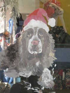 pet portrait, painted on glass, by Giulia Meregalli