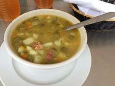 Just like my grandma's: soup for lunch in Medellin, Colombia #foodie #foodietravel #Medellin