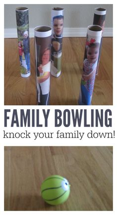 family bowling craft idea