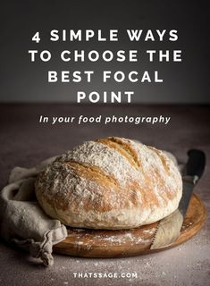 Focal point. Depth of field. How do both of these affect the composition of your food photography? Click to learn four simple ways to choose the best focal point for your food photos! #foodphotography #foodstyling #foodblogger #foodblog
