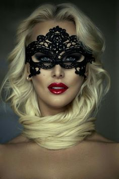 Blonde with beauty mask. Beyond The Mask, Female Mask, Mask Girl, Lace Mask, World Most Beautiful Woman, Beautiful Women, Beautiful Mask, Masquerade Party, Woman Face