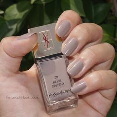 The simple nude nail!  Look for a nude with cool gray undertones such as YSL La Laque Couture in Beige Gallerie ($25; nordstrom.com)