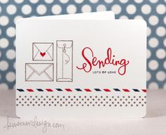 Simon Says Stamp: Sending Happy Thoughts Via kristinawernerdesign.com