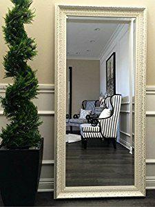 Amazon.com: West Frames Elegance Ornate Embossed Antique White Wood Framed Floor Mirror: Home & Kitchen