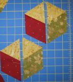 "tumbling blocks using no Y seams! tutorial, video & links. <("") x"