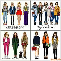 Girlsinbloom illustrations