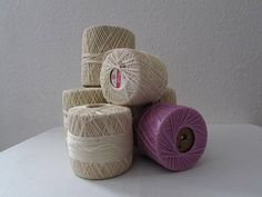 17-0731 Six 6 Partially Used Spools Of Crochet Thread / Five