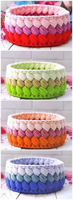 Crochet Fast And Easy Basket Definitely need to make some of these bowls! The post Crochet Fast And Easy Basket appeared first on Yarn ideas. korb Crochet Fast And Easy Basket - Yarn ideas Crochet Diy, Crochet Simple, Easy Crochet Projects, Crochet Amigurumi, Crochet Home Decor, Crochet Crafts, Fast Crochet, Crochet Decoration, Crochet Storage