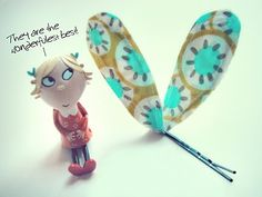 I LOVE Charlie & Lola (more than the kids I think!) Tutorial for Lola hairclips!