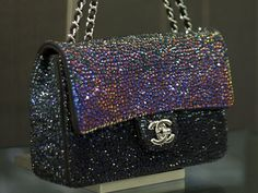 Chanel bag with crystals that change colors!