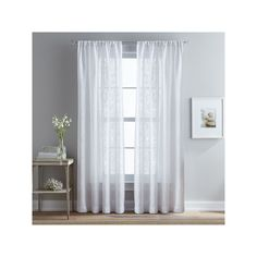 Peri Bridge Hampton Sheer Curtain, White