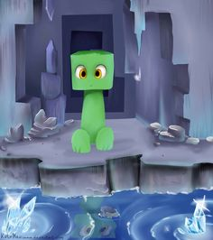 Creeper by KateMaximova on deviantART. So cute! I'd hug it, but it would blow up on me. :-( Hiss hiss boom!