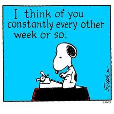 Snoopy writes...
