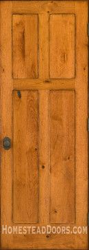 Rustic Doors - Solid Cherry 4-panel Door with Distressed Finish - mediterranean - interior doors - other metro - Homestead Doors, Inc.