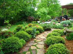 pool landscaping ideas | Backyard Landscape Designs Landscaping Ideas Garden Design Pool Square ...
