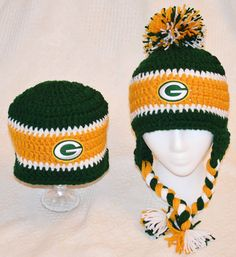 Green bay packers hat, tarheel hat, UNC hat, ,49ers hat,sports team hat, crochet hat, green bay crochet hat, sports crochet hat, green bay