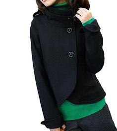 YUNY Women Solid Plus Size Pocket Crew-Neck Long-Sleeve Loose Sweatshirts Pattern1 L