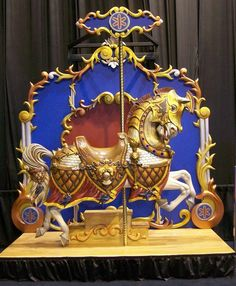 This Armored Carousel Horse was designed and carved by Joe Leonard