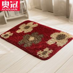 Red Bathroom Rugs | Filou Quality Contemporary Bath Rugs Swirl Design With Regard To