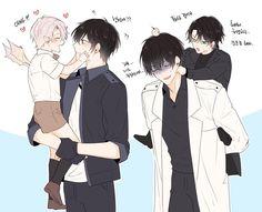 Awwwwww Anime Dad, Me Anime, Anime Guys, Manga Anime, Anime Siblings, Cute Anime Couples, Manhwa, Chibi, Cute Love Pictures