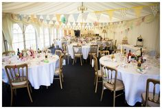Real Marquee Tea-Party Wedding: Holly & Jason - Reception Details