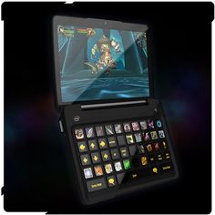 Gaming Netbook with dynamic keyboard and multi-touch interface that changes depending on the game that you play.