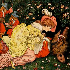 Welcome to our Beauty and the Beast illustration gallery. A beautiful collection of vintage illustrations from fairy tales of the Golden Age.    Beauty and the Beast  illustration by Walter Crane