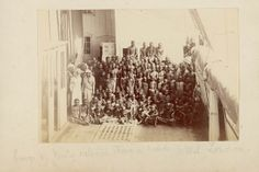 'Newly released Slaves on board H.M.S. London'  c. 1870,  National Maritime Museum