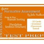 Jazz up your grammar lesson with this Parallelism Human Sorts Test Prep Review Game