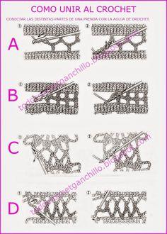 Todo crochet: Clase magistral: cómo unir con la aguja de crochet