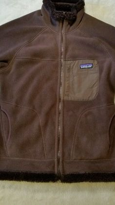 PATAGONIA Reversible  Fleece Jacket Womens Size M brown #Patagonia #FleeceJacket