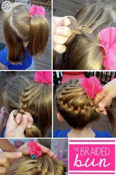 how to make a braided bun