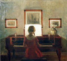 Poul Friis Nybo (1869-1929).Danish Painter