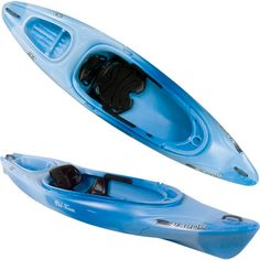 One of our kayaks is blue and so much fun!