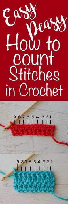 Love this!!! How to Count Stitches in Crochet