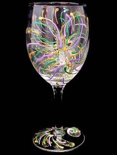 More mardi gras glass painting ideas