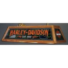 Harley Davidson light for pool table - i can do this with the fake stained glass… Garage Game Rooms, Man Cave Garage, Harley Davidson Shop, Harley Davidson Motorcycles, Stained Glass Lamps, Stained Glass Patterns, Billiard Table Lights, Pool Table Room, Pool Table Lighting