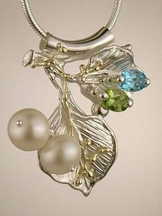 RT or Repin this Now Gregory Pyra Piro #Sterling #Silver and #Gold #Pendant 7965