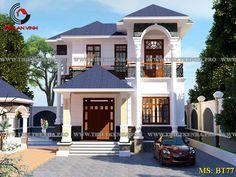 Thiết Kế Biệt Thự | Mẫu Biệt Thự Hiện Đại và Cổ Điển Đẹp| Kiến An Vinh Flat House Design, Brick House Designs, House Balcony Design, Two Story House Design, 2 Storey House Design, House Outside Design, Classic House Design, Kerala House Design, Unique House Design