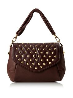 Be Women's Garbo Studded Top Flap Handbag at MYHABIT